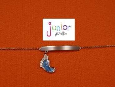 Bracciale piedino azzurro - Junior Gioielli Torino